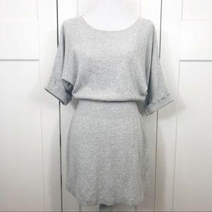 Express gray/silver tunic/mini sweater dress